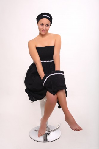 threatment dress black