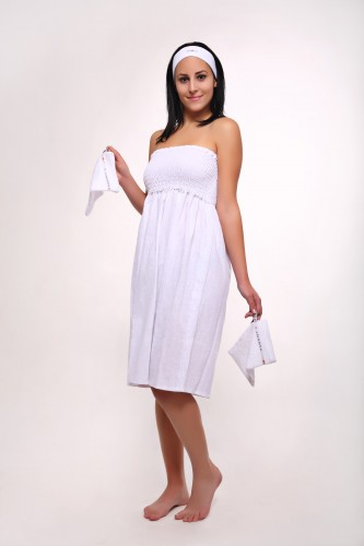 threatment dress white